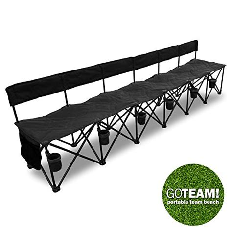 portable folding bench goteam pro 6 seat portable folding team bench black