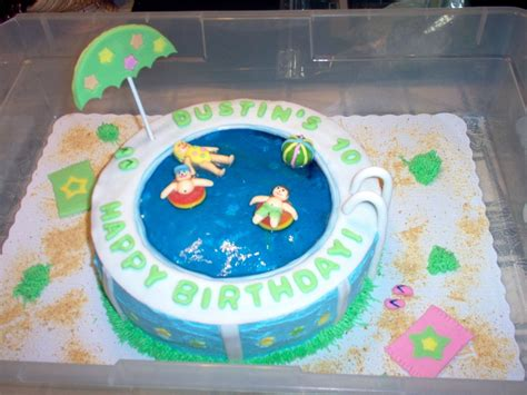 Pool Cake Decorations pool cakes decoration ideas birthday cakes