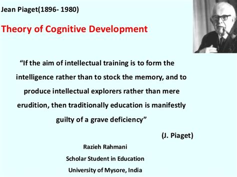 Intellectual Intelligence Essay by Piaget Cognitive Development Theory
