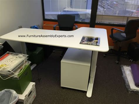 ikea galant height adjustable desk nazarm