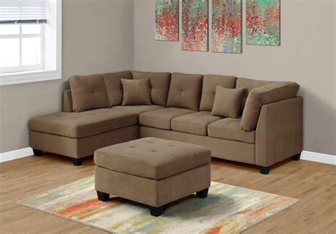 Sectional Sofa In Ultra Soft Light Brown Velvet Monarch Soft Sectional Sofa