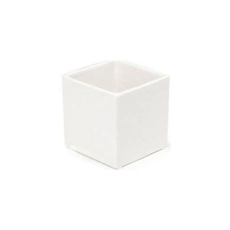 White Square Planter Box by Set Of 2 White 5 Quot Ceramic Small Square Planter Herb Box
