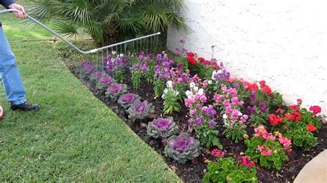 flower bed sprinklers how to water beautiful flower beds youtube