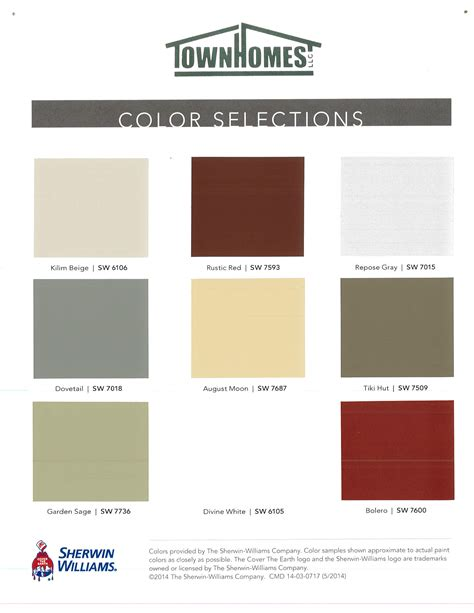townhomes colors options colors options