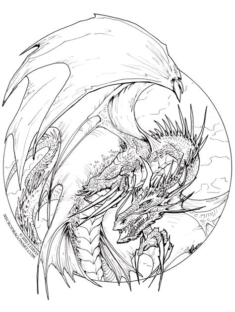 cool hard dragon coloring coloring pages