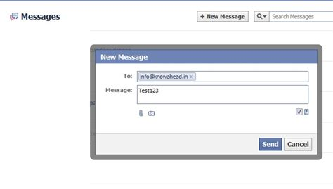 email fb send email to anyone using username facebook com from