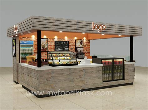 original style 3D coffee kiosk design in mall for sale