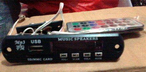 Li Mobil Bass Booster Dengan Usb Port Fm Mmc Murah usb mp3 player sandi elektronik