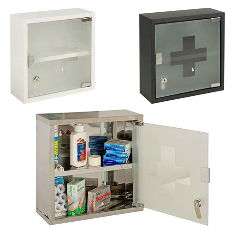 Wall Mountable Medicine Cabinet Cupboard Lockable Keys