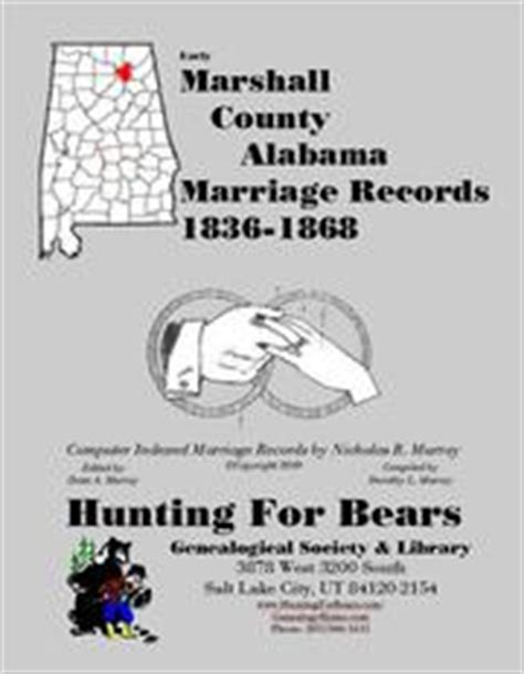 County Alabama Marriage Records Early Marshall County Alabama Marriage Records 1836 1847 Open Library