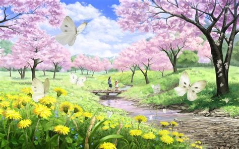 Home Design Games 3d by Download Free Anime Cherry Blossom Background Page 2 Of