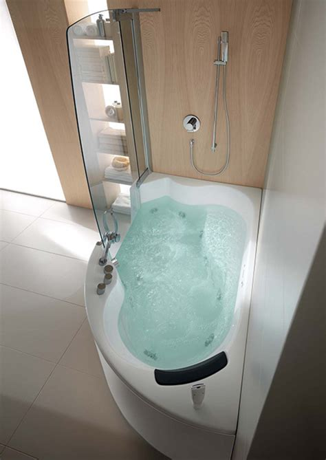 teuco corner whirlpool shower integrates shower  bathtub