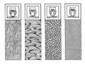 An owl bookmarks coloring pages an owl bookmarks coloring pages