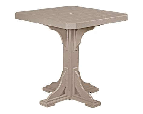 square high top table square table 41in table top high density polyethylene