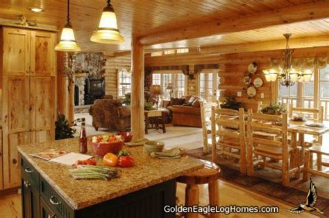 log home open floor plan kitchen luxury log cabin homes golden eagle log and timber homes design ideas log home