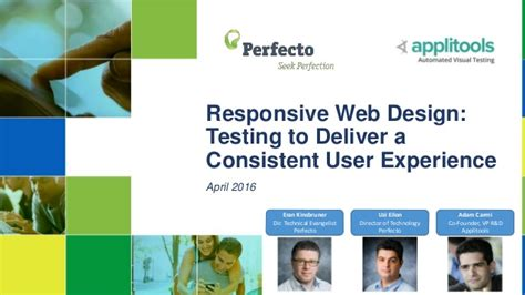 web layout testing responsive web design testing to deliver a consistent