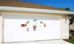 magnetic garage door decorations ho ho ho santa claus with snowflakes magnetic