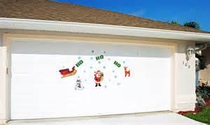 Magnetic Garage Door Decorations Ho Ho Ho Santa Claus With Snowflakes Magnetic Door Decorations Ebay