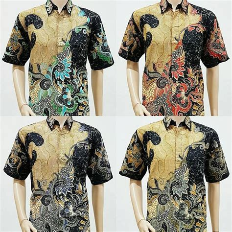 Kemeja Batik Lengan Pendek Sofie Pola Daun model baju batik pria lengan pendek pola daun 2018 model baju batik and models
