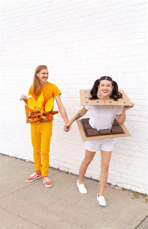 diy campfire smores couples costume cute