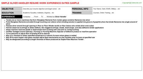 Package Handler Resume by Package Handler Resume Sle