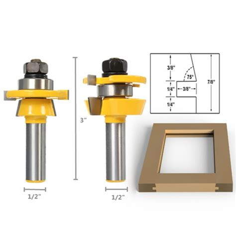Cabinet Door Router Bit Shaker Bevel Rail And Stile Glue Joint Router Bit For Cabinet Door 1 2 Inch Alex Nld