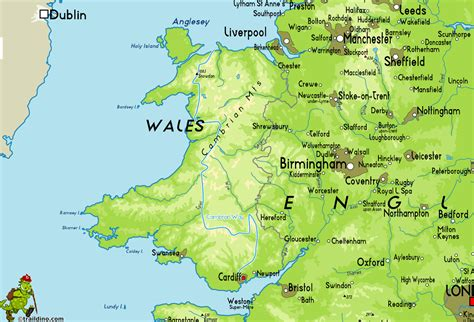 united kingdom map with mountains cambrian way