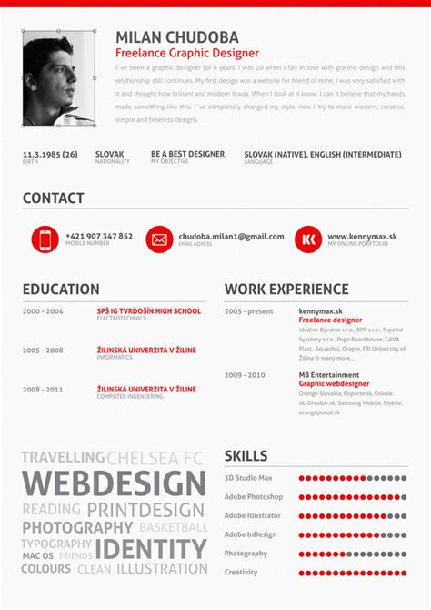 anyone knows the fonts used in this resume graphic design stack exchange