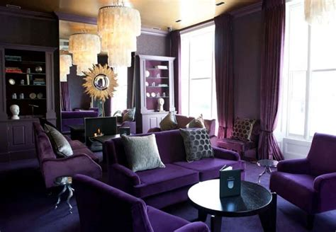 purple colour combination for living room contemporary living room with purple furniture and monochromatic on impression of