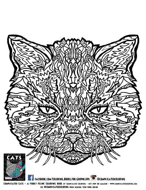 complicated coloring pages free printable coloring pages from complicated cats