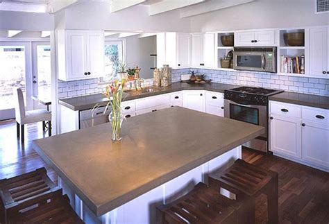 Concrete Countertops Kitchen Kitchen Concrete Countertops The Concrete Network