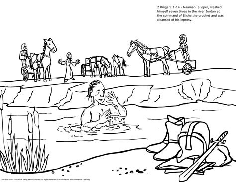 naaman coloring page printable naaman and the servant girl coloring pages naaman the