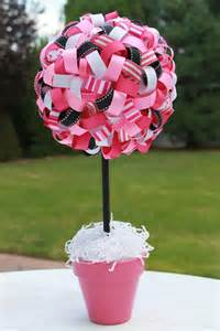 Ribbon Topiary Centerpieces - ribbon topiary centerpiece baby shower pinterest