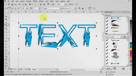 tutorial corel draw x5 for beginner corel draw x5 artistic media tutorial youtube