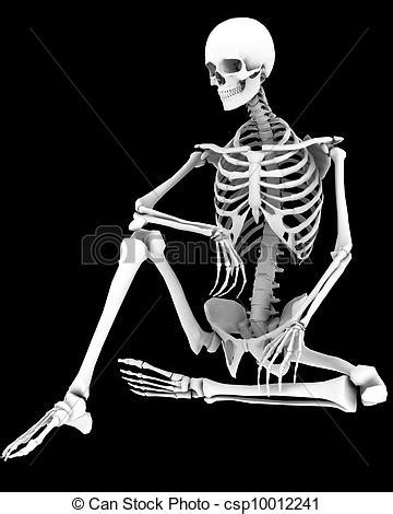 My Cool House Plans drawing of spooky a skeleton in a pose csp10012241