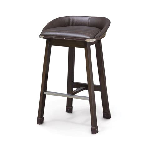salome industrial stainless steel cashew leather counter 12 best images about palecek bar stools on pinterest