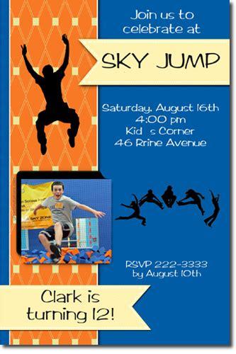 printable sky zone birthday invitations bounce house birthday invitations moon walk birthday