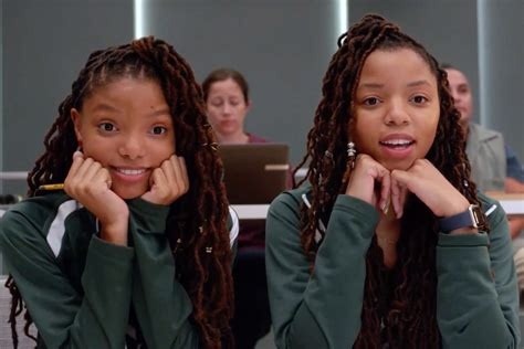 chloe and halle bailey movies chloe x halle make their grown ish debut in new clip