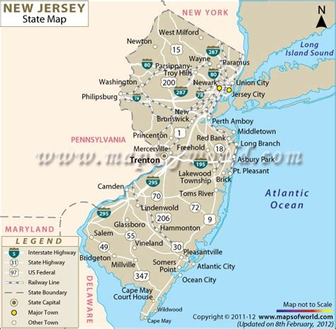 where is new jersey on the map 9 best images about new jersey on trees
