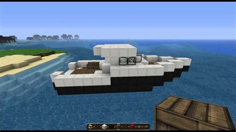 how to make a speed boat in minecraft pe minecraft tutorial fishingboat youtube
