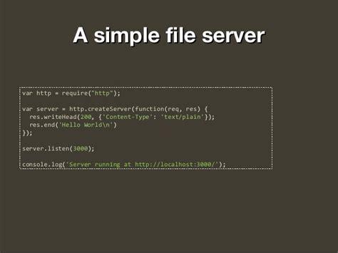 simple node js file server full stack javascript with node js