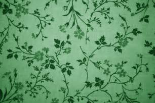 Red Damask Curtains Green Floral Print Fabric Texture Picture Free