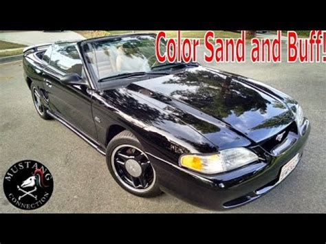 like glass 1995 mustang gt color sand and buff on a single stage paint