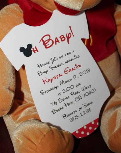 free mickey mouse baby shower invitation templates mickey mouse onesie baby shower invitation all wording