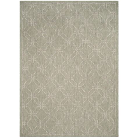 grey green rug safavieh courtyard green gray 8 ft x 11 ft indoor outdoor area rug cy8470 36921 8 the home depot