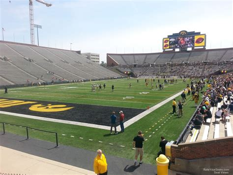 section 132 f kinnick stadium section 132 rateyourseats com