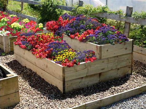 Split Level Raised Flower Garden Bed