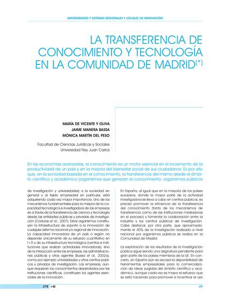 madrid comunidad de madrid d g de la mujer la transferencia de conocimiento y pdf download available