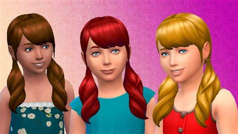 the sims 4 hair kids the sims 4 my stuff pigtails hairstyle for girls base