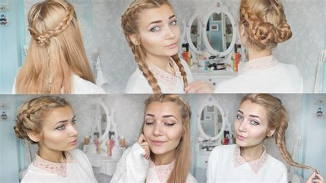 Pretty Hairstyles For School For by 4 Braid Back To School Hairstyles